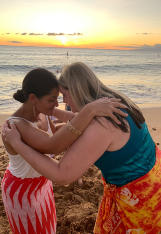Maui Celestial Retreat | traditional Hawaiian greeting at sunset!