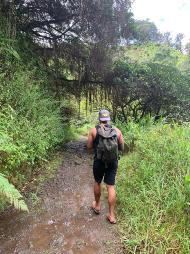 Hiking on the Road to Hana with Hawaii cultural practitioner Kale