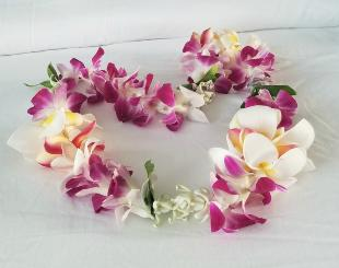 Hawaiian leis greet your with love  | 2020 Maui Celestial Retreat